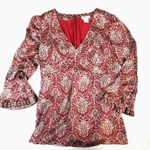 Sundance Silk Damask Bohemian Top